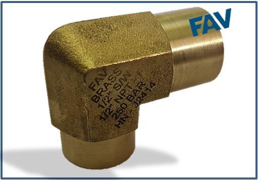 Brass Elbow SW Socket Weld X NPTF